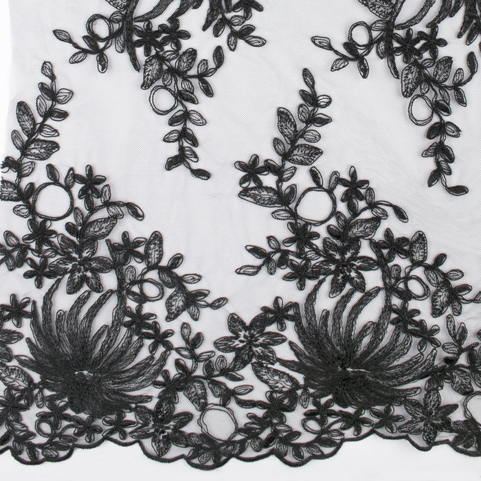 MAXIMA Lace - Chrysanthemum - Black