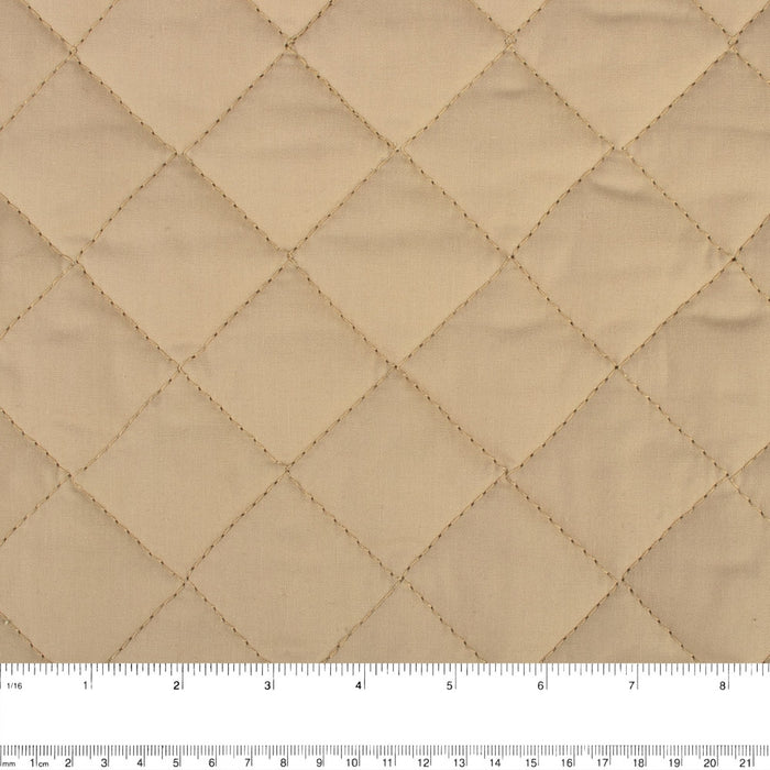 Quilted Back to Back Broadcloth - Sand