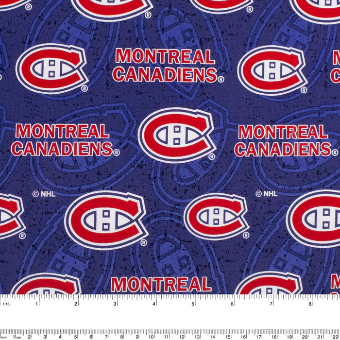 Montreal Canadiens - NHL Cotton Print - Logo - Blue