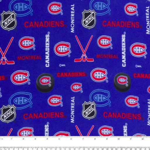 Montreal Canadiens - NHL Flannelette Print - Logo
