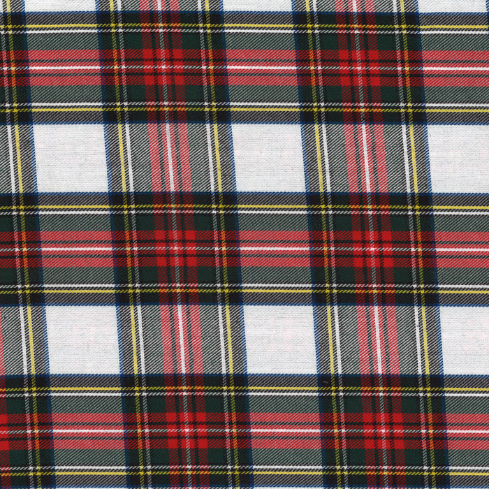 Tartan Suiting - Dress Stewart - White / Black / Red