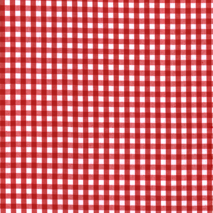 Gingham Check - Red 1/4""
