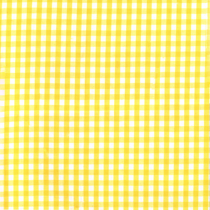 Gingham Check - Yellow 1/4""