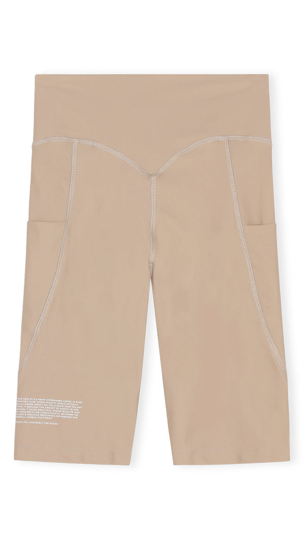 Center high-rise bike shorts - Sand