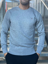 Original C-neck Sweat Grey Melange