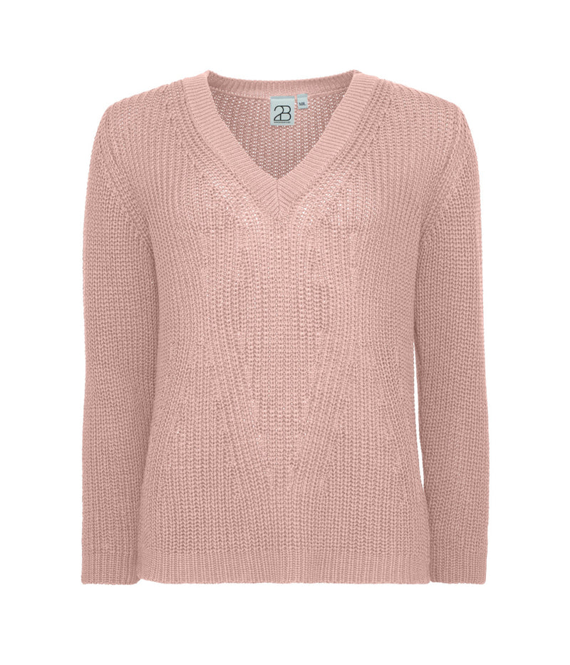 Gine Knit Blouse Rose