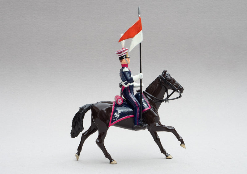 Set 102 Polish Lancers | Cavalry | Napoleonic Wars | Single light horse with mounted lancer | Waterloo | © Imperial Productions | Sculpt by David Cowe