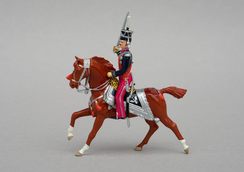 Set 104 Prince Poniatowski | French | Napoleonic Wars | Commander-in-chief Polish armies. Dressed in Polish Lancer uniform. Single mounted officer on bay horse | Waterloo | © Imperial Productions | Sculpt by David Cowe