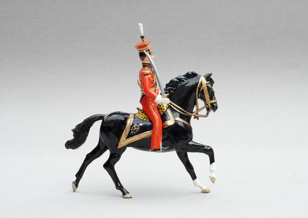 Set 106 General Edouard Colbert | Cavalry | Napoleonic Wars | Commander of the Dutch Lancers, Single mounted officer on black horse | Waterloo | © Imperial Productions | Sculpt by David Cowe
