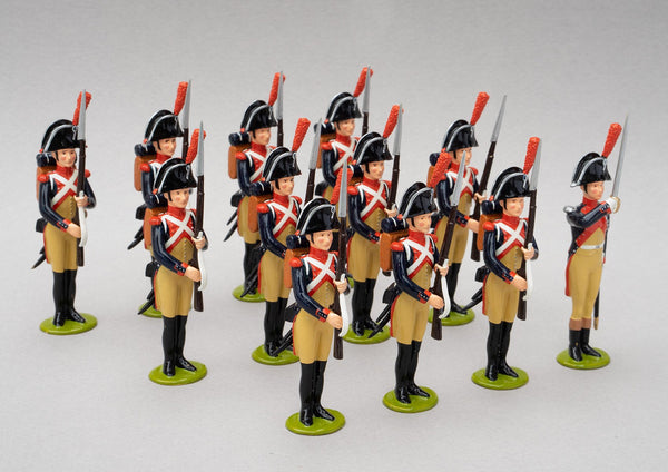 Set 111a Gendarmerie Impériale | French Infantry | Napoleonic Wars | Six men, all at the present arms position their short muskets with bayonets fixed | Waterloo | © Imperial Productions | Sculpt by David Cowe