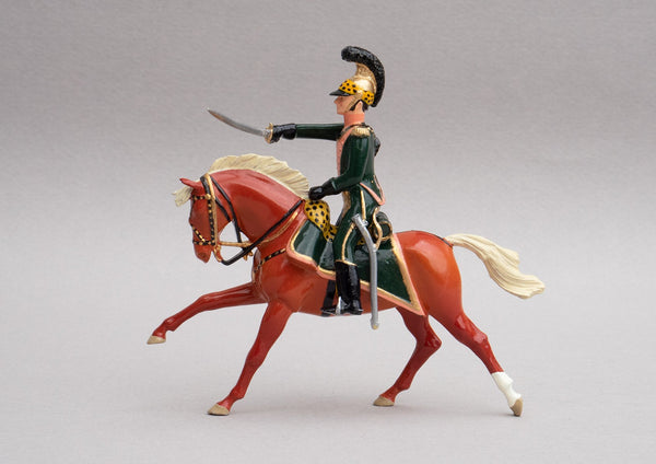 Set 132 Officer 3rd Chevau-Legers Lancers | French Cavalry | Napoleonic Wars | Single mounted officer on flaxen chestnut horse | Waterloo | © Imperial Productions | Sculpt by David Cowe