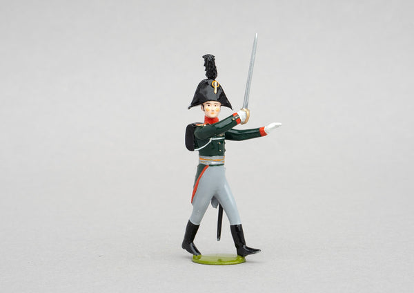 Set 151 Pavlovski Grenadiers, 1806 | Russian Infantry | Napoleonic Wars | Officer with bicorne hat and sabre | Waterloo | © Imperial Productions | Sculpt by David Cowe