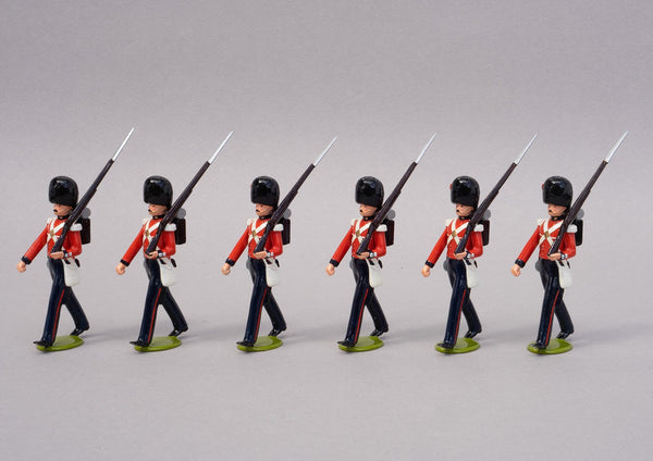 Set 65a Coldstream Guards 1854 | British Infantry | Crimean War | Six men marching at slope arms | Balaclava, Sevastapol, Alma | © Imperial Productions | Sculpt by David Cowe