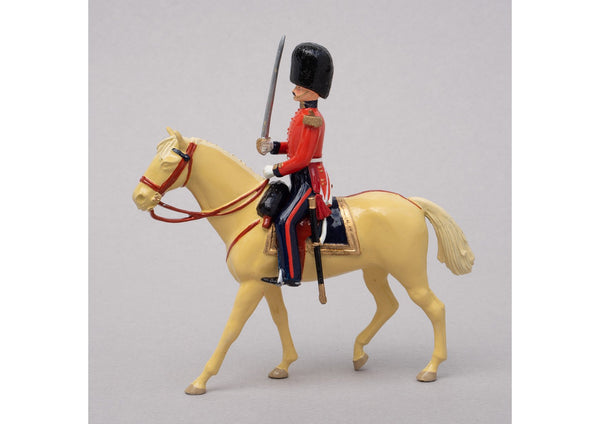 Set 66 Officer, Coldstream Guards 1854 | British Infantry | Crimean War | Mounted Officer with sword | Balaclava, Sevastapol, Alma | © Imperial Productions | Sculpt by David Cowe