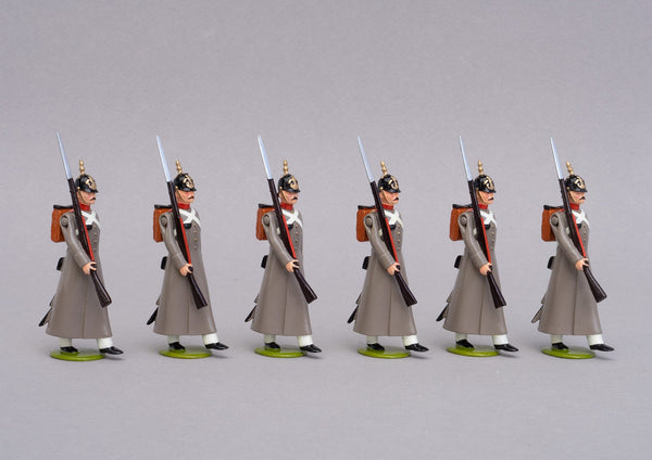 Set 72a Russian Line Infantry 1854 | Russian | Crimean War | Six men marching | Balaclava, Sevastapol, Alma | © Imperial Productions | Sculpt by David Cowe