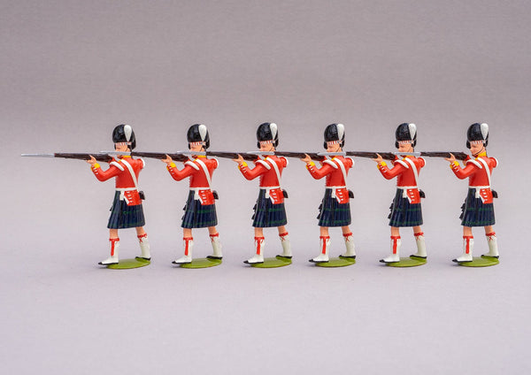 Set 80a The Thin Red Line | British Infantry | Crimean War | 93rd (Sutherland) Highlanders. Six men standing firing | Balaclava, Sevastapol, Alma | © Imperial Productions | Sculpt by David Cowe