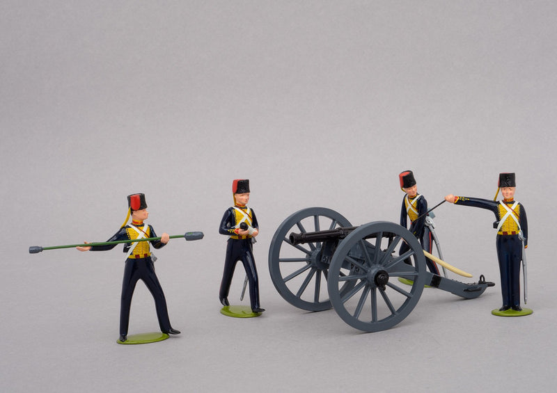 Set 83 Royal Horse Artillery 1854 | British | Crimean War | Artillery piece with four gunners and ammunition crate | Balaclava, Sevastapol, Alma, Charge of the Light Brigade | © Imperial Productions | Sculpt by David Cowe