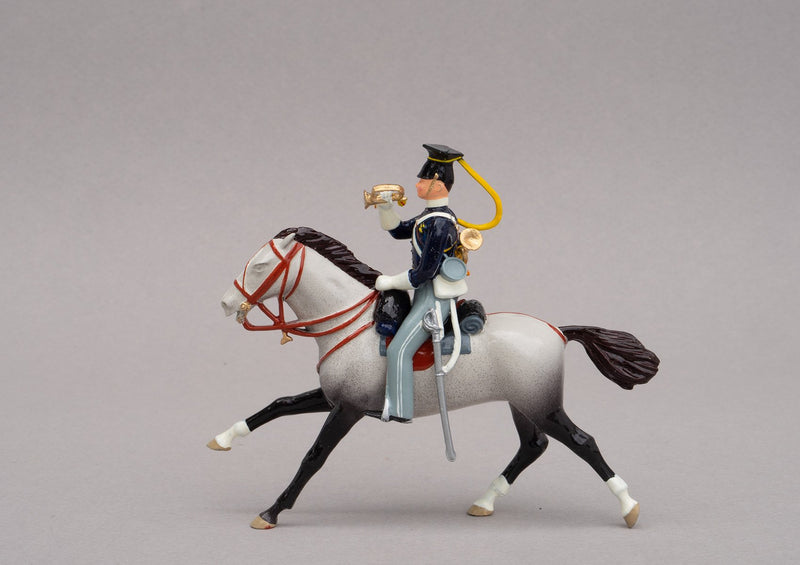 Set 91 17th Lancers 1854 | British Cavalry | Crimean War | Single Mounted Lancer | Balaclava, Sevastapol, Alma, Charge of the Light Brigade | © Imperial Productions | Sculpt by David Cowe
