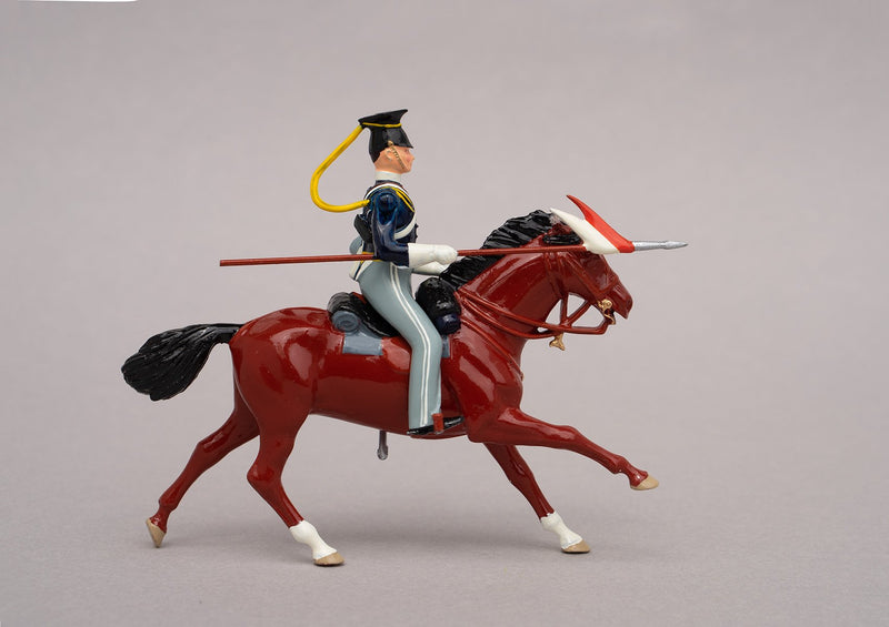 Set 91a 17th Lancers 1854 | British Cavalry | Crimean War | Single Mounted Lancer | Balaclava, Sevastapol, Alma, Charge of the Light Brigade | © Imperial Productions | Sculpt by David Cowe
