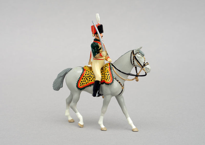 Set 96 Prince Eugene de Beauharnais | French | Napoleonic Wars | Single mounted figure on grey horse | Waterloo | © Imperial Productions | Sculpt by David Cowe