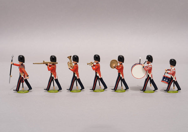 Set 99 Band of the Coldstream Guards 1854 | British Infantry | Crimean War | Seven bandsmen, drum major, two trombones, two drummers, one symbols, one euphonium | Balaclava, Sevastapol, Alma | © Imperial Productions | Sculpt by David Cowe