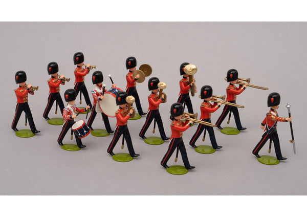 Set 99a Band of the Coldstream Guards 1854 | British Infantry | Crimean War | Combined set 99 and 99a, 13 Coldstream Guards bandsmen | Balaclava, Sevastapol, Alma | © Imperial Productions | Sculpt by David Cowe
