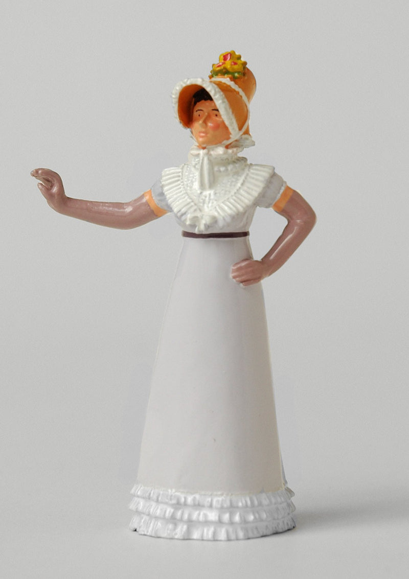 Set ES09 Lady in 'Pamela' bonnet | Regency Lady | First Empire Civilians | © Imperial Productions | Sculpt by David Cowe