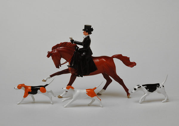 Set HS03 Huntswoman, top hat | Victorian Huntswoman | Hunting Series | © Imperial Productions | Sculpt by David Cowe