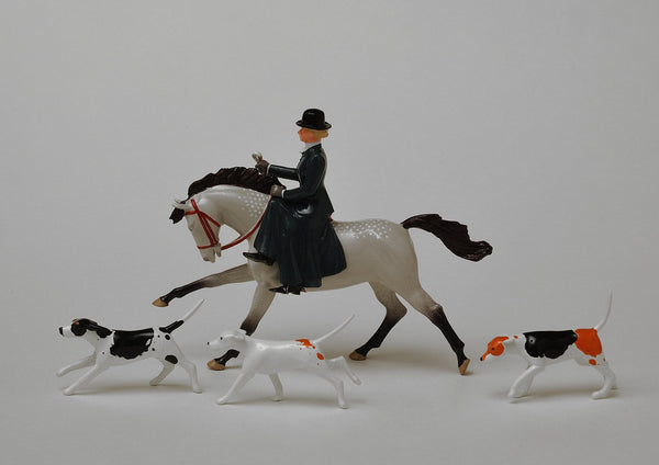 Set HS04 Huntswoman, bowler hat | Victorian Huntswoman | Hunting Series | © Imperial Productions | Sculpt by David Cowe