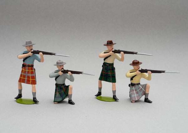 Set NZ5 NZ Armed Constabulary, 1870 | NZ Infantry | New Zealand | Set of four men | New Zealand Wars. Hauhau, Te Kooti, Bay of Plenty, Taupo, East Coast, Taranaki, Waikato. | © Imperial Productions | Sculpt by David Cowe