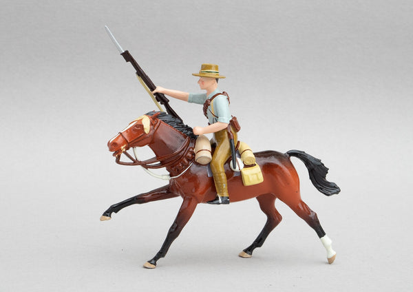 Set NZ7 NZ Mounted Rifleman, Sinai-Palestine WWI | NZ Cavalry | New Zealand | ANZAC Mounted Division.  Single rider on horse | Sinai, Suez Canal, Romani, El Arish, Magdhaba, Rafa, Gaza, Beersheba, Tel el Saba, Jaffa, Jericho, Moab, Es Salt | © Imperial Productions | Sculpt by David Cowe