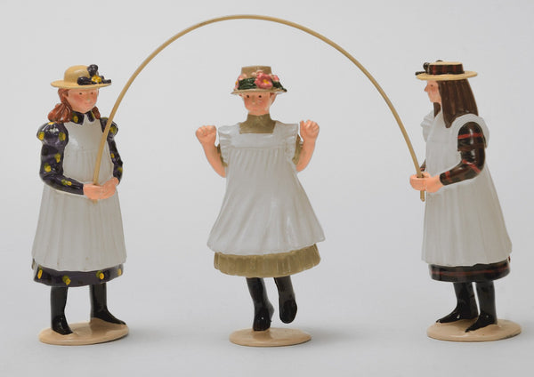 Set 04 Three girls with skipping rope | Victorian Children | Town and Around | © Imperial Productions | Sculpt by David Cowe