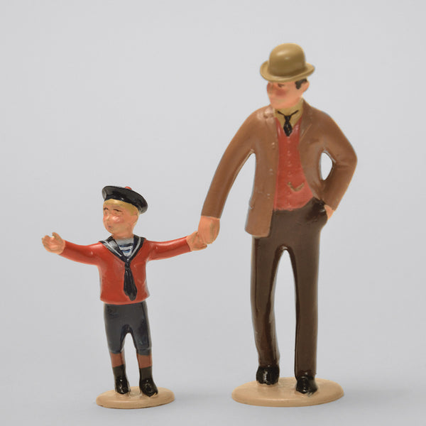 Set 62 Father and Son | Victorian Gentleman and Children | Town and Around | © Imperial Productions | Sculpt by David Cowe