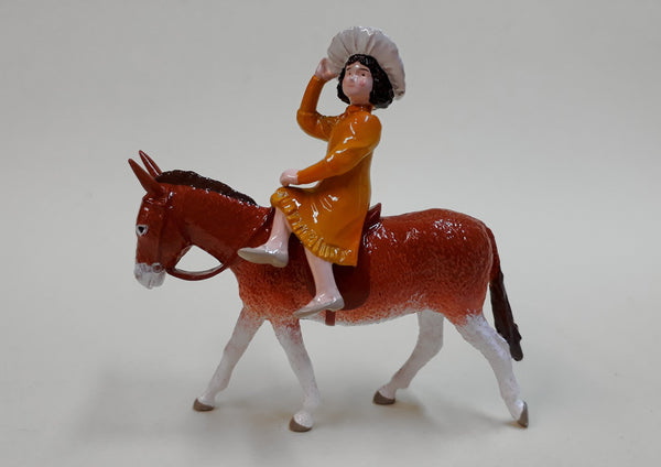 Set TA68 Girl on Donkey | Victorian Children and Animals | Town and Around | © Imperial Productions | Sculpt by David Cowe