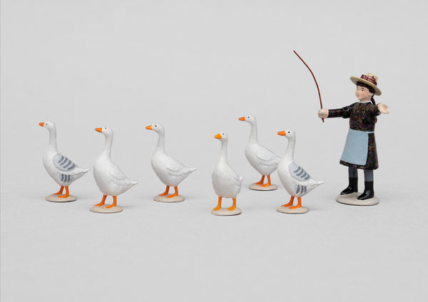 Set 70 Tiny Gooseherd | Victorian Children and Animals | Town and Around | © Imperial Productions | Sculpt by David Cowe