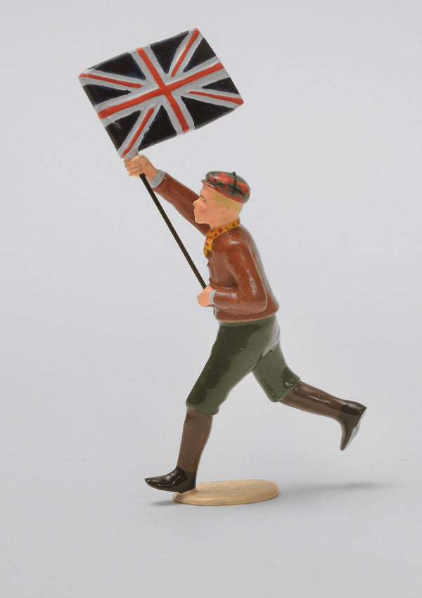 Set 09 Boy with flag | Victorian Children | Town and Around | © Imperial Productions | Sculpt by David Cowe