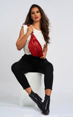 RED ROBERTA BELT BAG