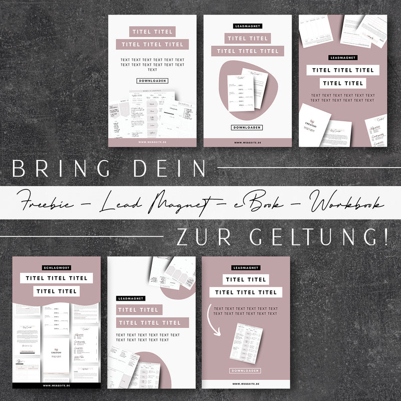 40+ Pinterest Pin Vorlagen | Canva Templates