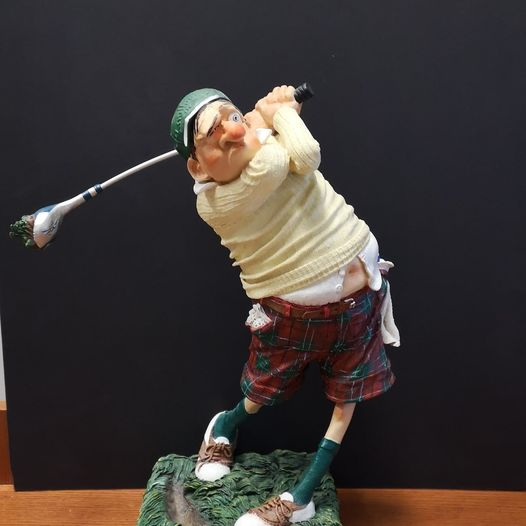 Guillermo Forchino Knallaway Golf Statue Designed in France