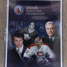 Load image into Gallery viewer, Autographed Limited Edition 2006 Hockey Hall of Fame Induction Poster.