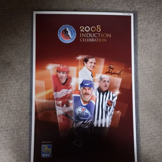 Autographed Limited Edition 2008 Hockey Hall of Fame Induction Poster.