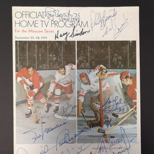 Autographed 1972 Summit Series Program With LOA