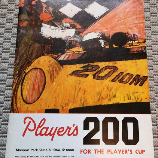 1964 Player's 200 Car Race Program From Mosport Park
