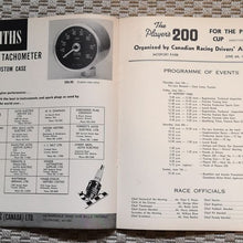 Load image into Gallery viewer, 1964 Player's 200 Car Race Program From Mosport Park