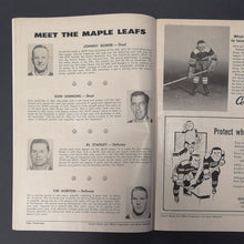 Load image into Gallery viewer, 1962 Vintage NHL All Star Game Program At Maple Leaf Gardens