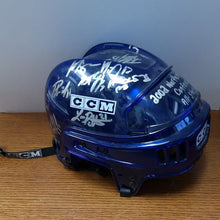 Load image into Gallery viewer, Autographed 2002 ECHL Northern Conference All-Star Team CCM Blue Helmet.