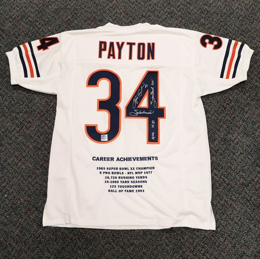 Autographed Walter Payton Chicago Bears Jersey With Celebrity Appearance Inc. Hologram