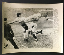 Load image into Gallery viewer, 1950 Briggs Stadium Press Photo Detroit Tigers Boston Red Sox Walt Dropo Slides