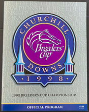 Load image into Gallery viewer, 1998 Churchill Downs Breeders Cup Championship XV Horse Racing Program Vintage