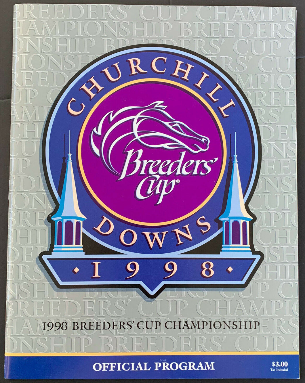 1998 Churchill Downs Breeders Cup Championship XV Horse Racing Program Vintage